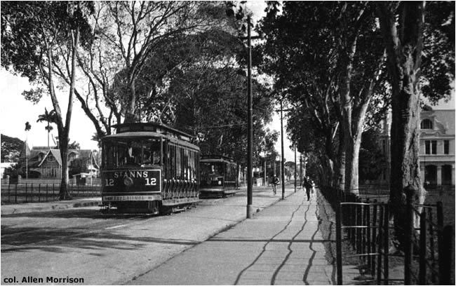 One of the unusual features of the Port of Spain tramway was its