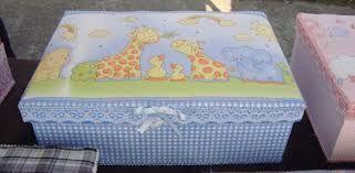Resultado de imagen para artesanias en tela para bebe - Cajas decoradas para bebes ...