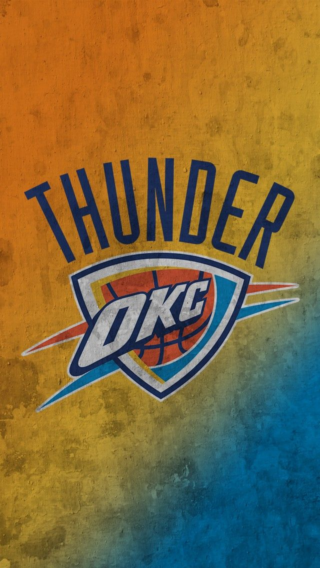 Okc Thunder Iphone Wallpaper 2021 Live Wallpaper Hd Okc Thunder Oklahoma City Thunder Logo Okc Thunder Basketball