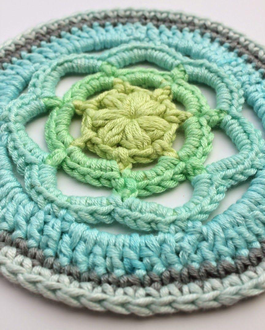 I Love Yarn Cal 2014 Draadenpapier Haken Mandala Crochet Cal