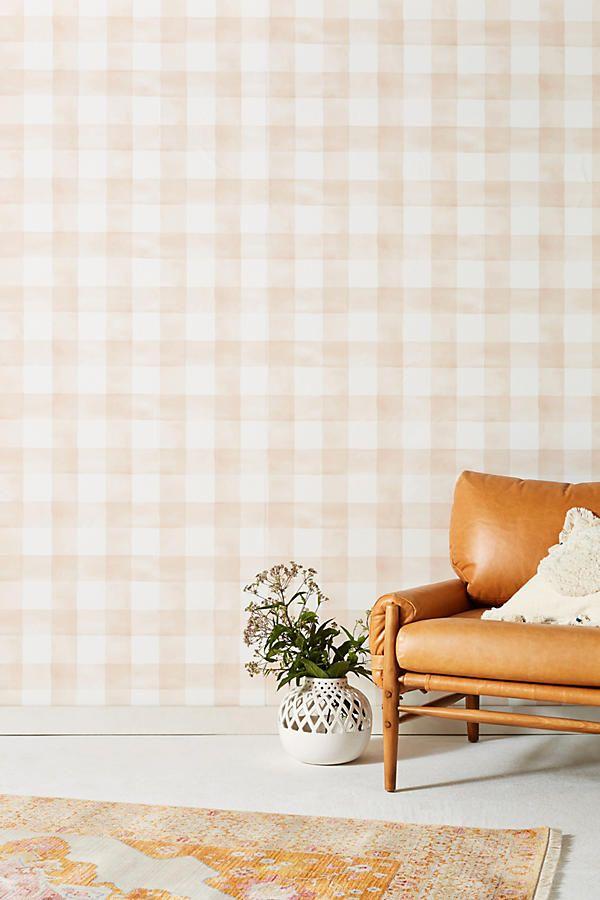 Magnolia Home Watercolor Check Wallpaper Creative home