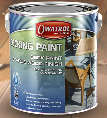 Our brand new decking paint is available in 10 stylish colours and provides long-lasting protection and a rich matt finish on exterior wood surfaces.