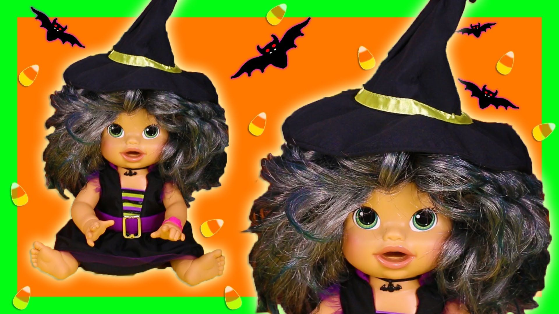 Baby Alive Halloween Witch Costume Doll Eats Play Doh Poops Surprise Blind Bags Baby Alive Witch Halloween Costume Halloween Witch