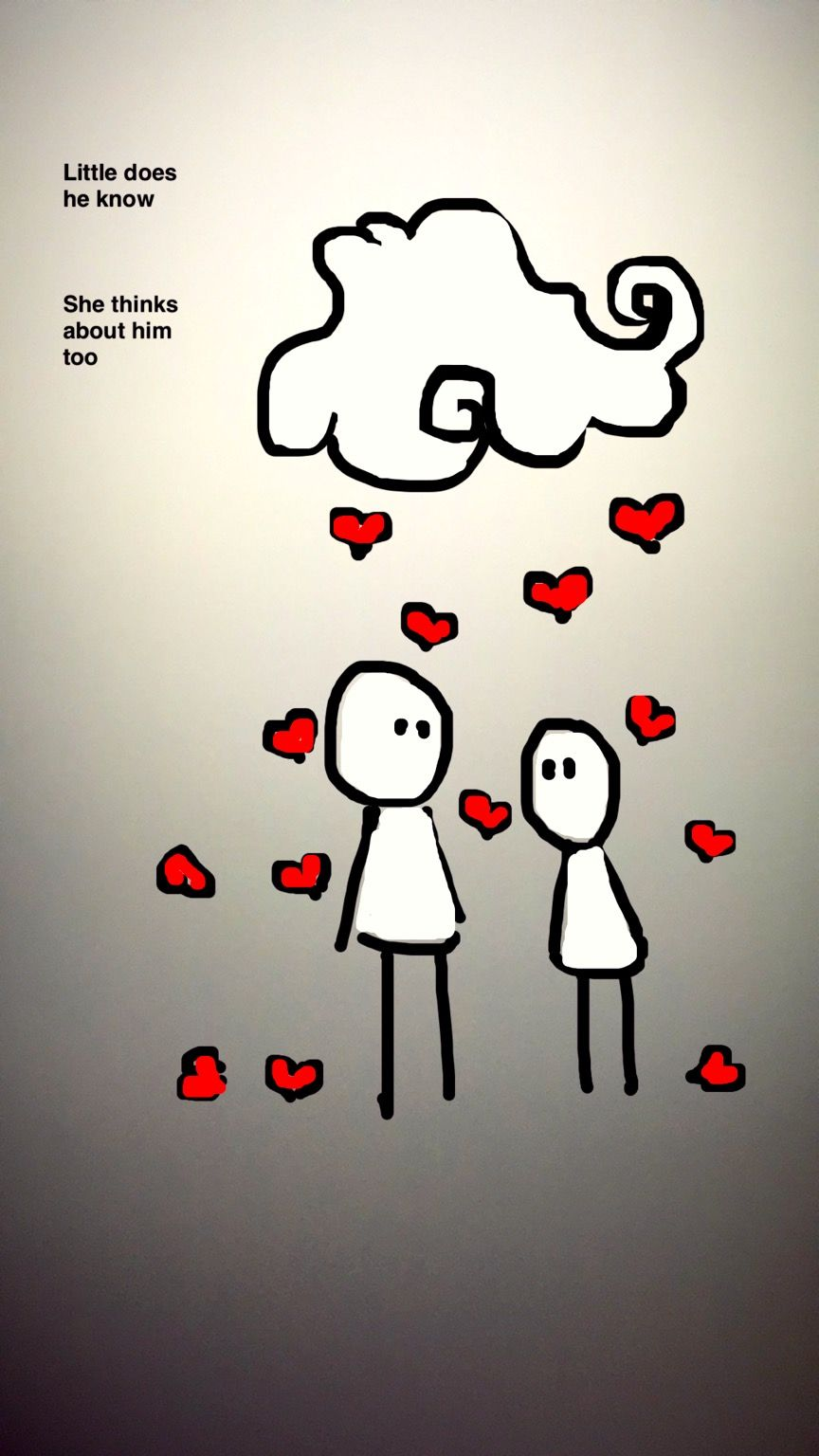 Draw doodle love quote cute