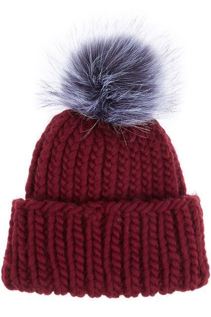 8179cb92f1b NEED this furry pom-pom beanie before temps drop any further. (Paid for by  Maybelline)
