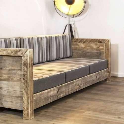 Sillon rustico de 3 cuerpo muebles y for Sillones rusticos de madera