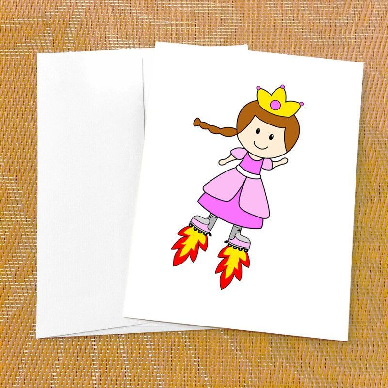 Funny Birthday Card for Her Cute Card for Her Princess Rocket – Birthday Cards for Her Funny