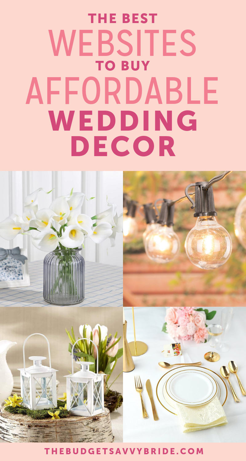 The Top Online Resources For Cheap Wedding Decor Cheap Wedding Supplies Buy Wedding Decorations Wedding Decorations Online
