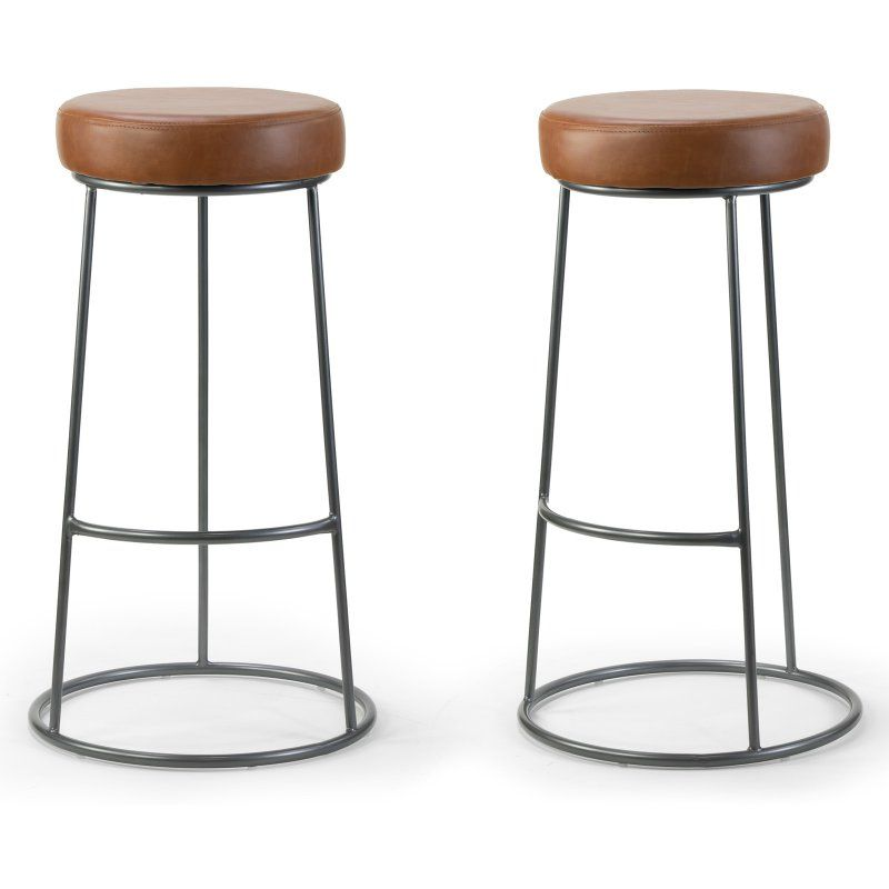Glamour Home Amie 30 25 In Backless Bar Stool Set Of 2