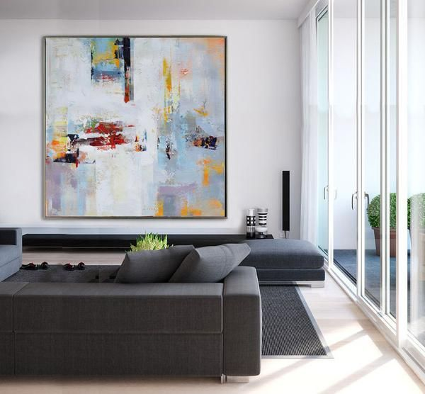 Palette Knife Contemporary Art #l5A  Palette Knife Contemporary Entrancing Texture Paint Design For Living Room Decorating Design