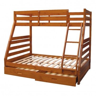 Bargain 869 Was 1 449 Atlanta Double Single Bunk Bed Walnut