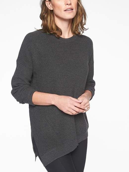 063253bcb0eb9 Athleta Rest Day Asym Crewneck Sweater | Products | Sweaters ...