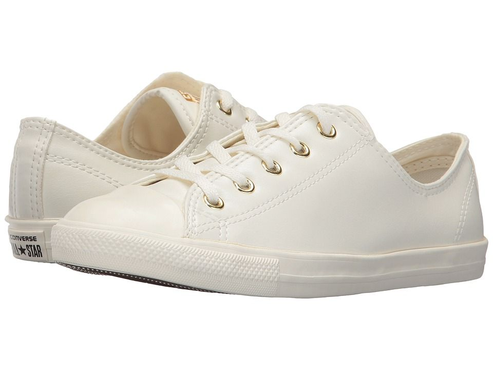 womens converse white & gold chuck taylor all star craft ox