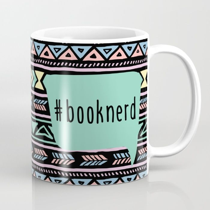 Book Nerd Tribal Print Mug