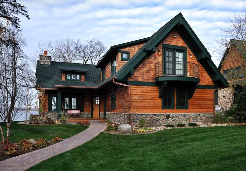 Cedar-home par Lake Country Builders - Usa - \u003ca href\u003d\ - construire un garage en bois m