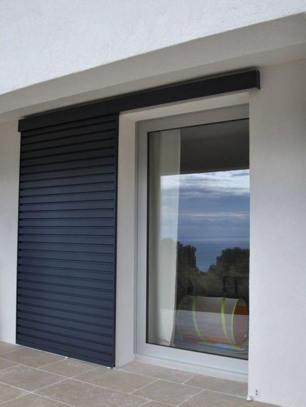 chassis coulissant a galandage et volets coulissants aluminium facade exterieure pinterest. Black Bedroom Furniture Sets. Home Design Ideas