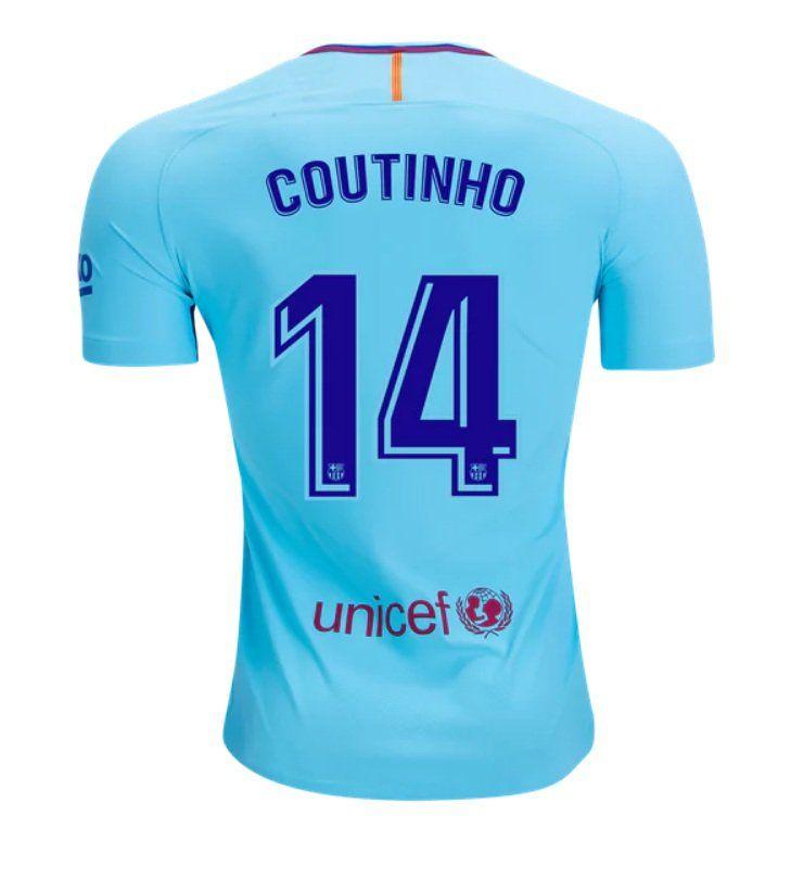 1b31cda3f1a Philippe+Coutinho+ 14+Barcelona+2017-2018+Away+Jersey