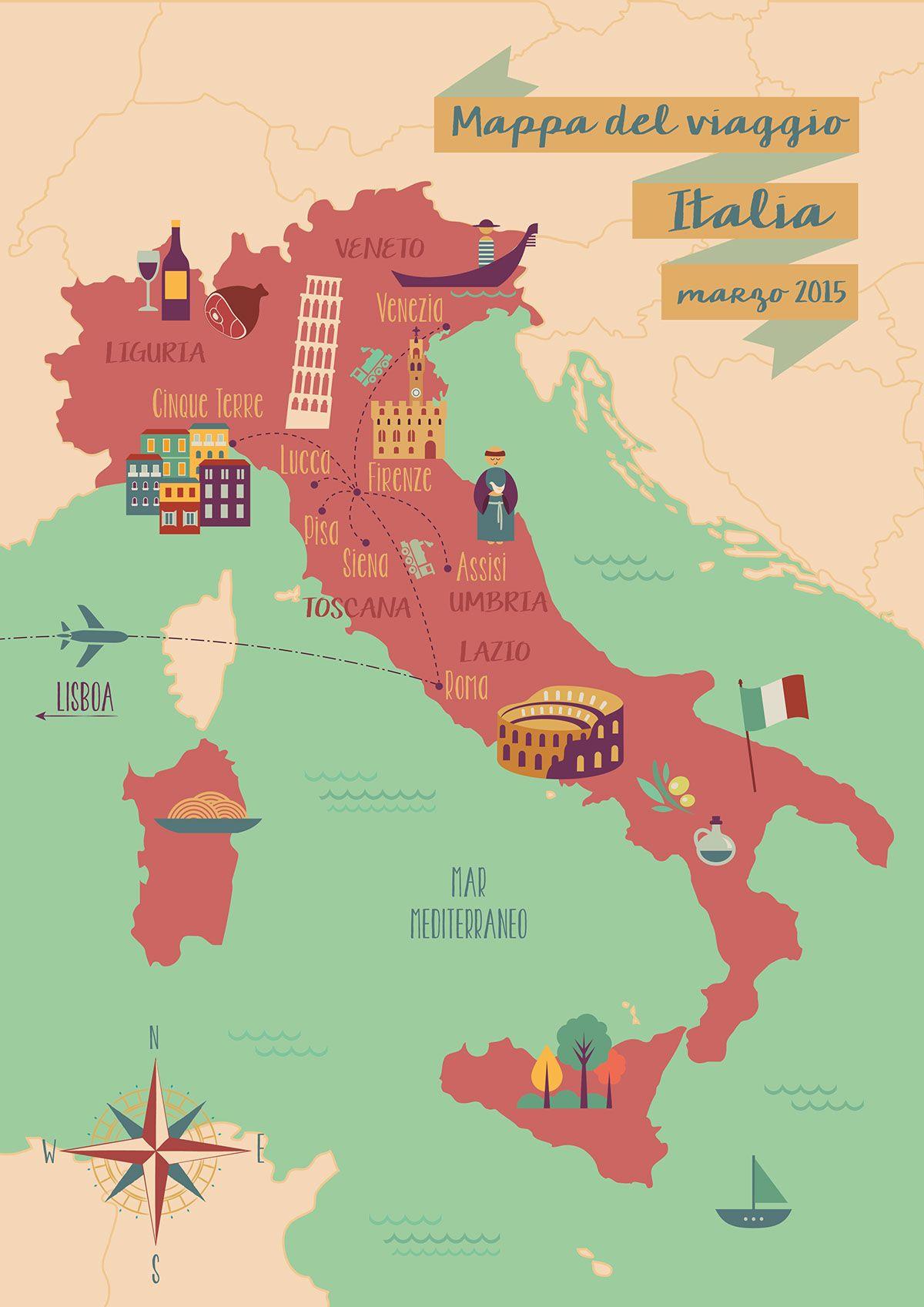 mapa ilustrado Mapa ilustrado on Behance | MAP ILLUSTRATIONS in 2018 | Pinterest  mapa ilustrado
