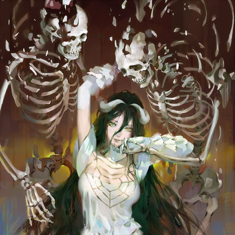 Overlord anime anime art albedo