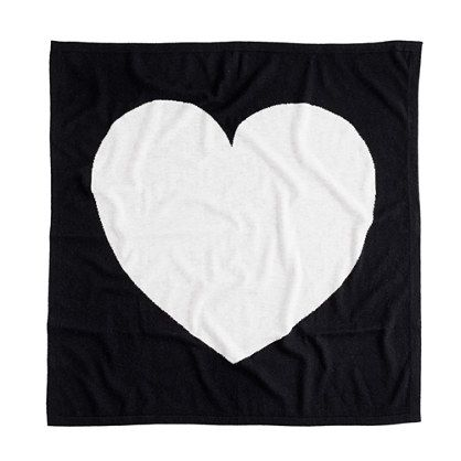 Baby Cashmere Heart Blanket | J.Crew