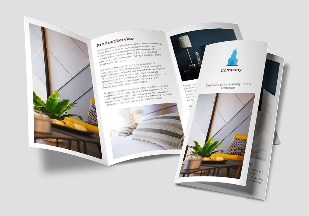 Hotel Tri Fold Brochure Sample Made On The Wilda Online