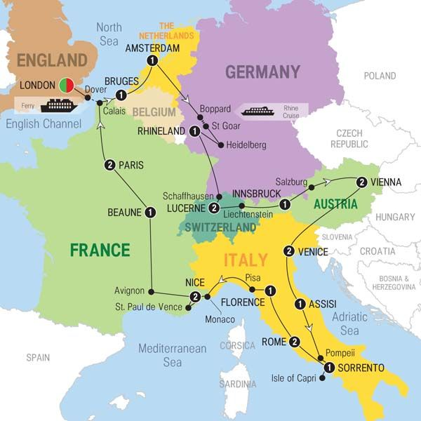 amsterdam on europe map Grand European with Eurostar   2016   South Africa   Trafalgar