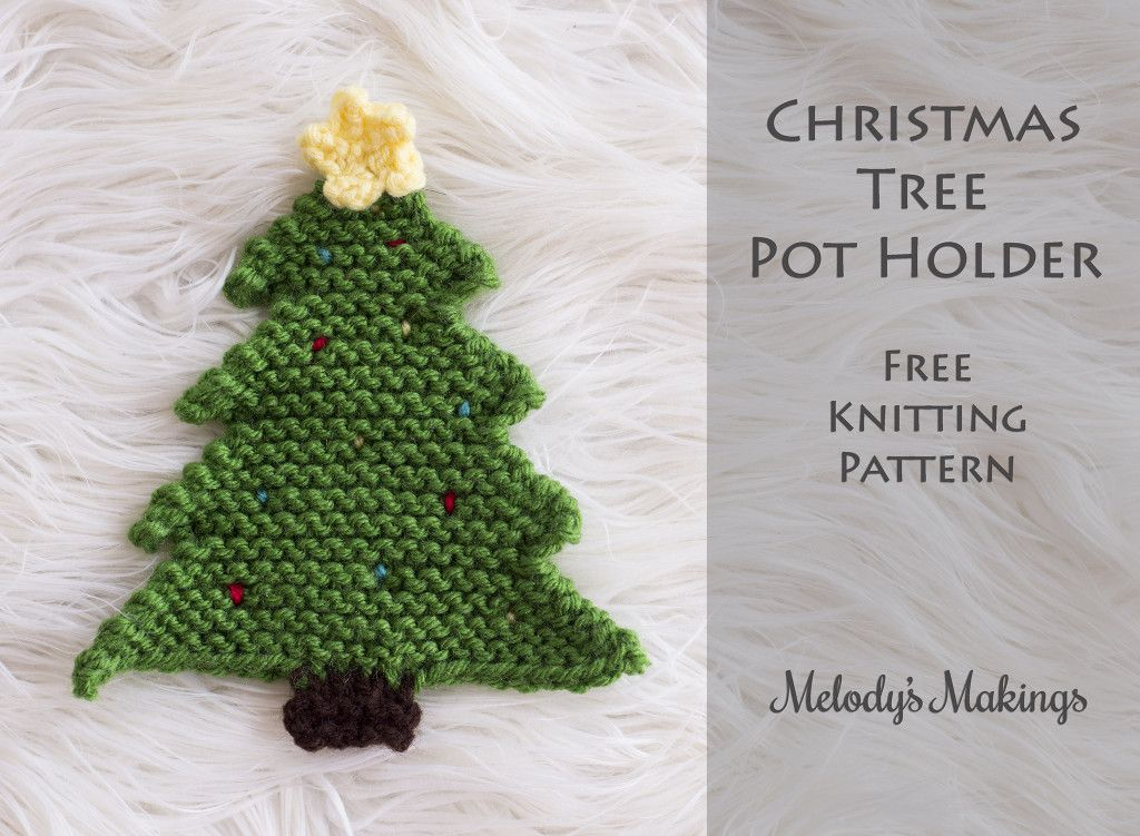 Christmas Tree Pot Holder Pattern Crochet Knit Fiber Flux