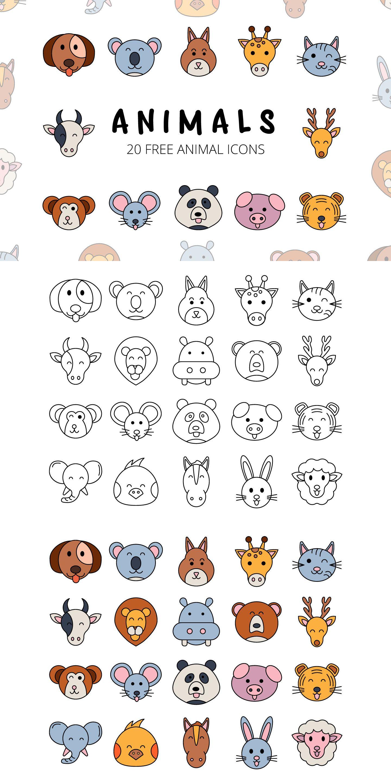 Animals Vector Free Icon Set Deszone Net Animal Icon Design Free Icon Set Animal Icon