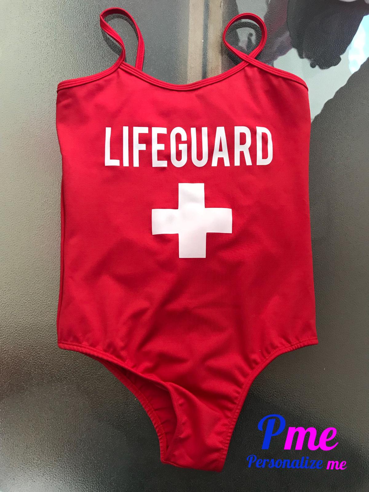 691df13a3 Body vermelho personalizado Lifeguard