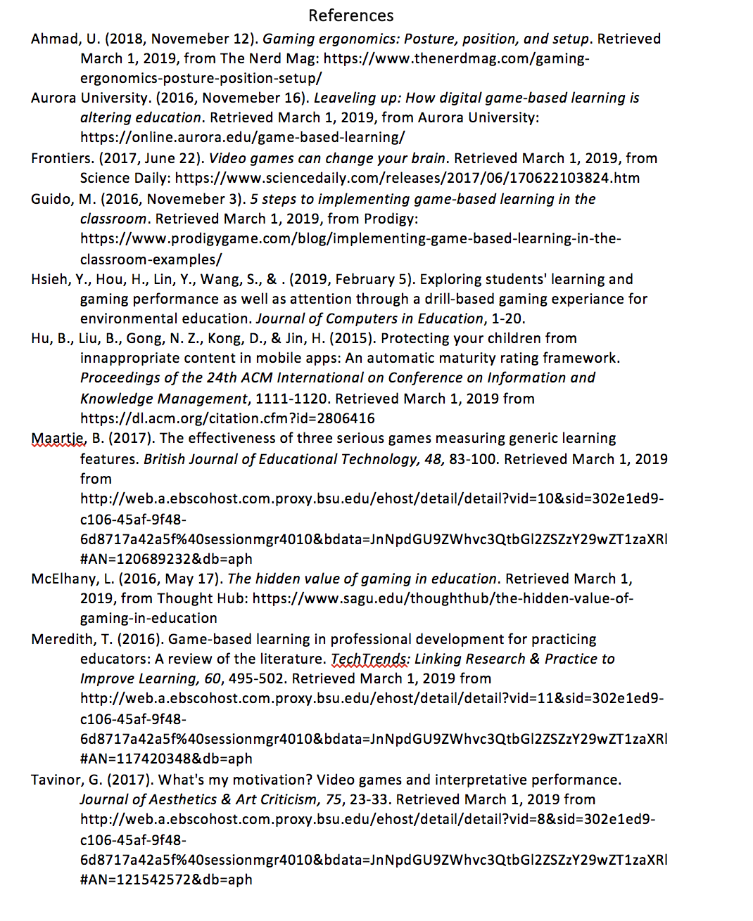 References In Apa Included In The Picture Citations