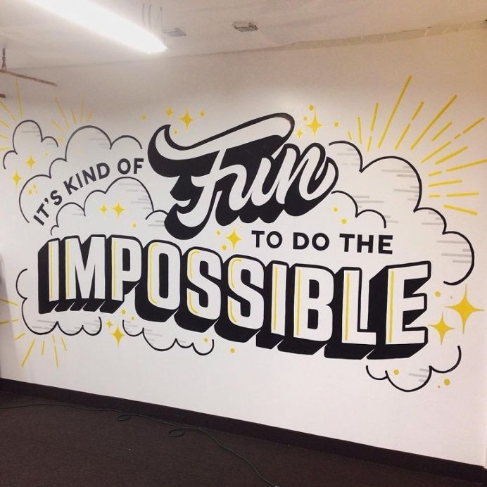 Wall Mural by Youbringfire Typography Art Inspiration Pinterest