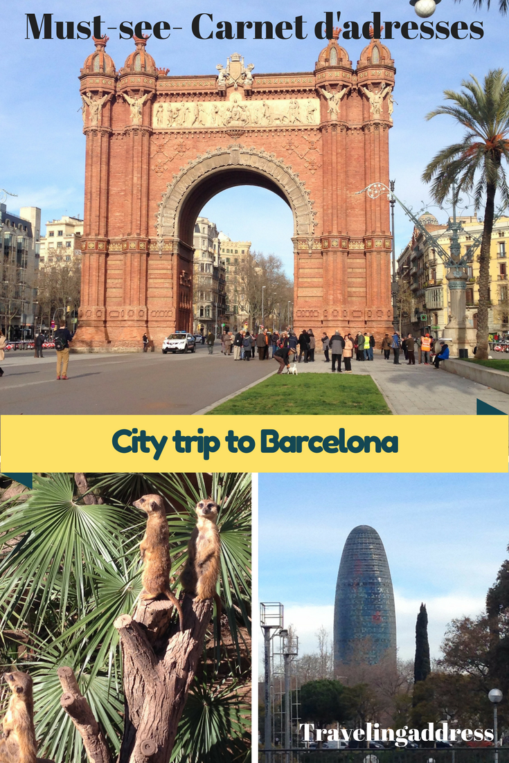 City trip à Barcelone en février (Espagne) Carnet d'adresses