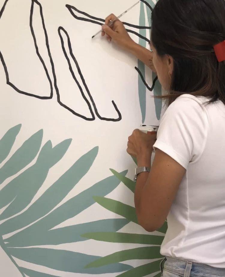Street Murals - Palm Acai coffee Mural
