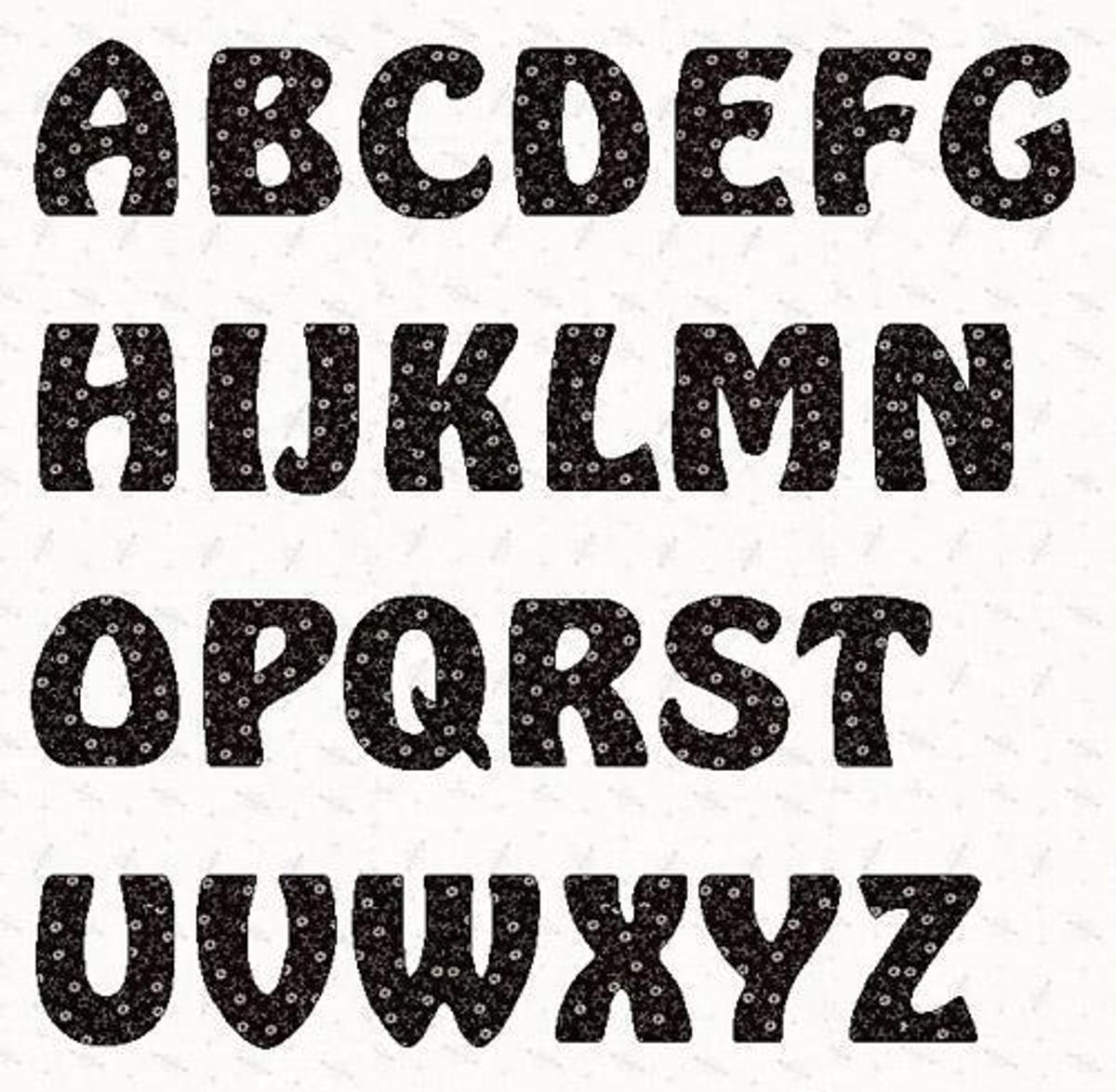 Alphabet Hobbit Font  Inch Template  Hobbit Fonts And Template