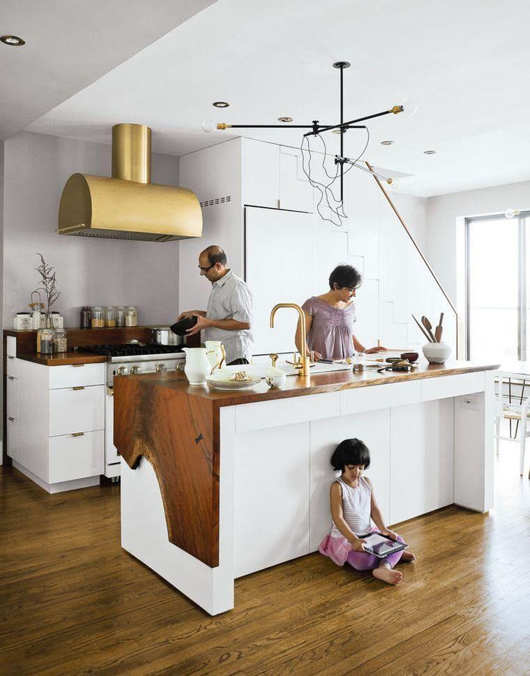 Cuisine Blanche Plan De Travail Bois Inspirations De Deco Pinterest
