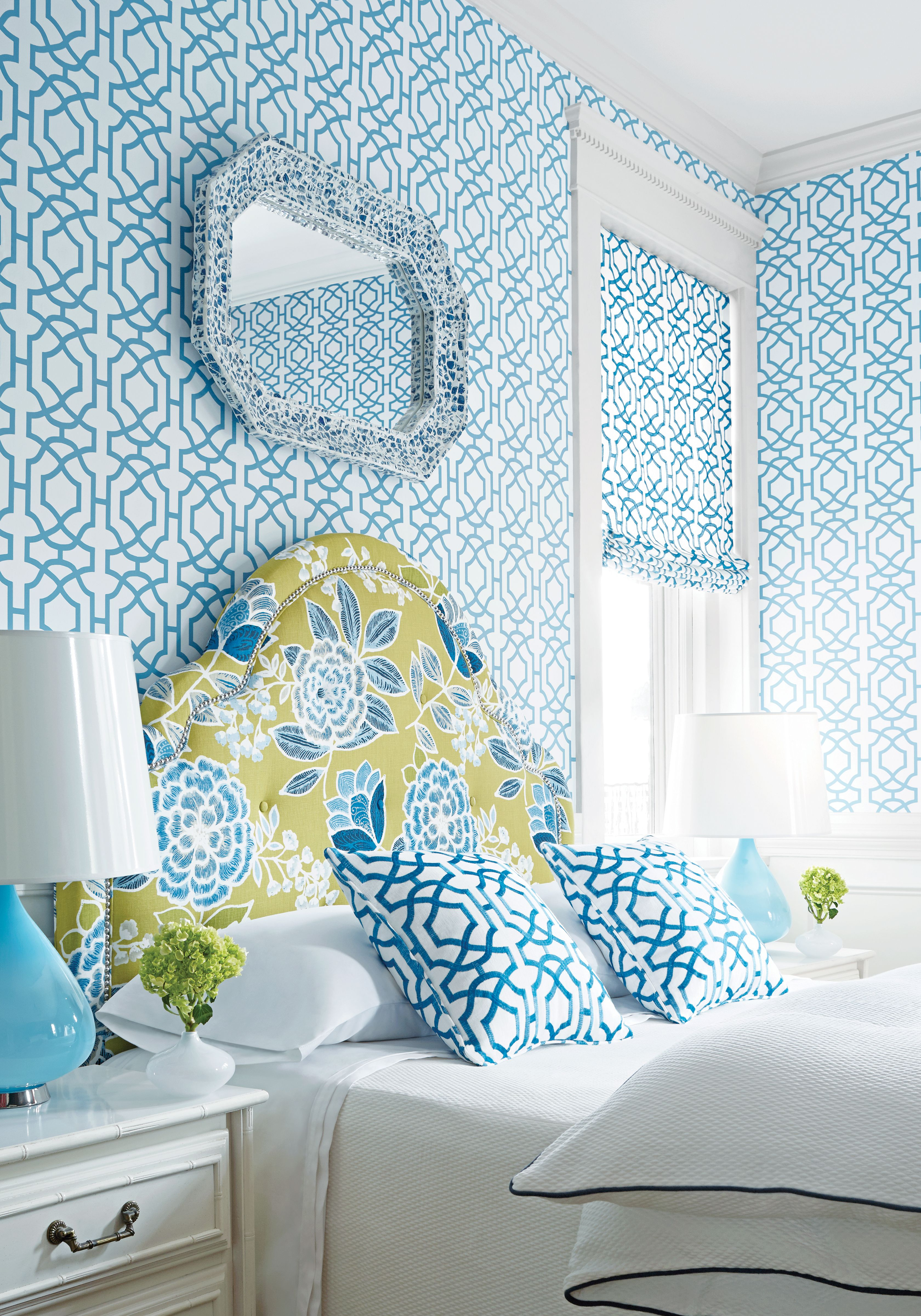 ブルーとホワイトでさわやかなお部屋! | 洋室 | 寝室 壁紙 ...