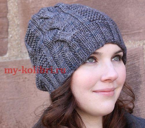 Схемы для вязания шапок для девочек спицами