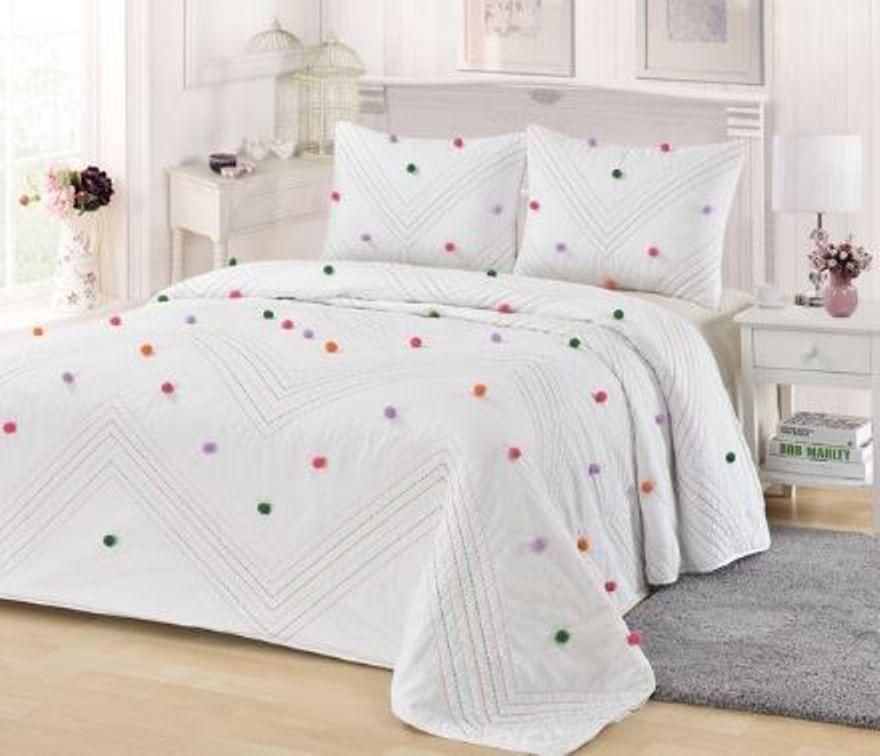 Colorful Candy Pom Pom Kids Comforter Set Mulan Designs