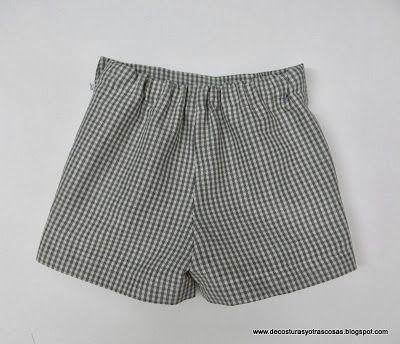 21f21aa3a SHORT PARA NIÑO O NIÑA (PATRONES INCLUÍDOS) | curso de costura ropa ...