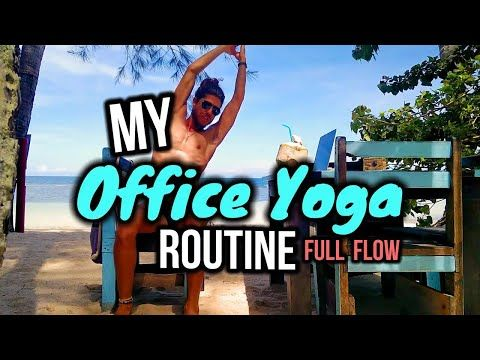 office yoga for beginners 📌 my office chair yoga quickie