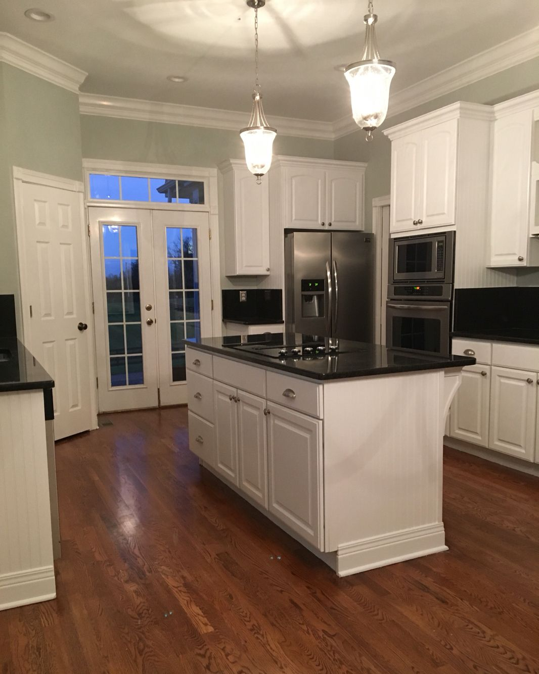 love my kitchen color sherwin williams silver strand light blue gray with subtle green hints. Black Bedroom Furniture Sets. Home Design Ideas