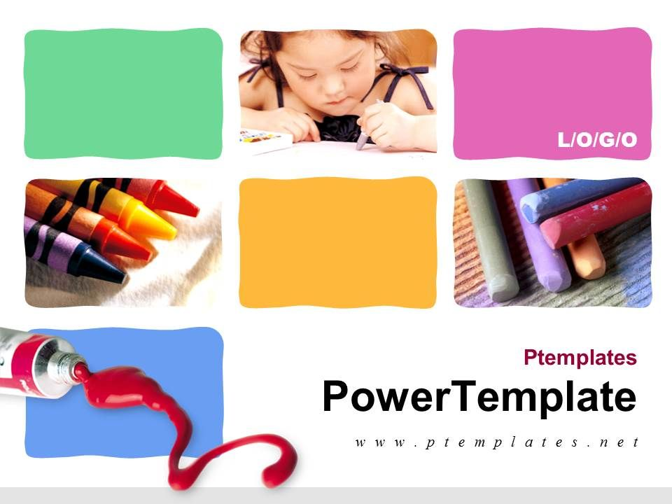 Child Art Powerpoint Template Free Download Powerpoint Templates
