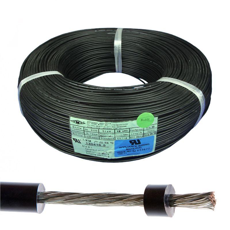 Ul3135 Soft Flexible Cable Ultra Flex Silicone Rubber Wire