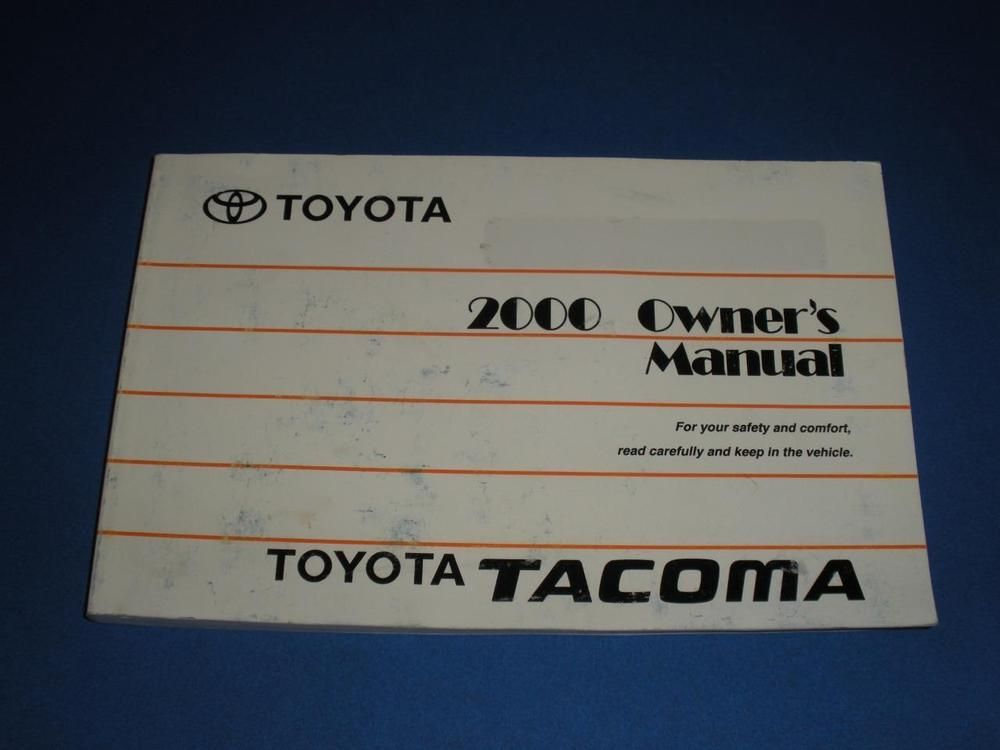 2000 toyota tacoma owners manual book owners manuals pinterest rh pinterest com