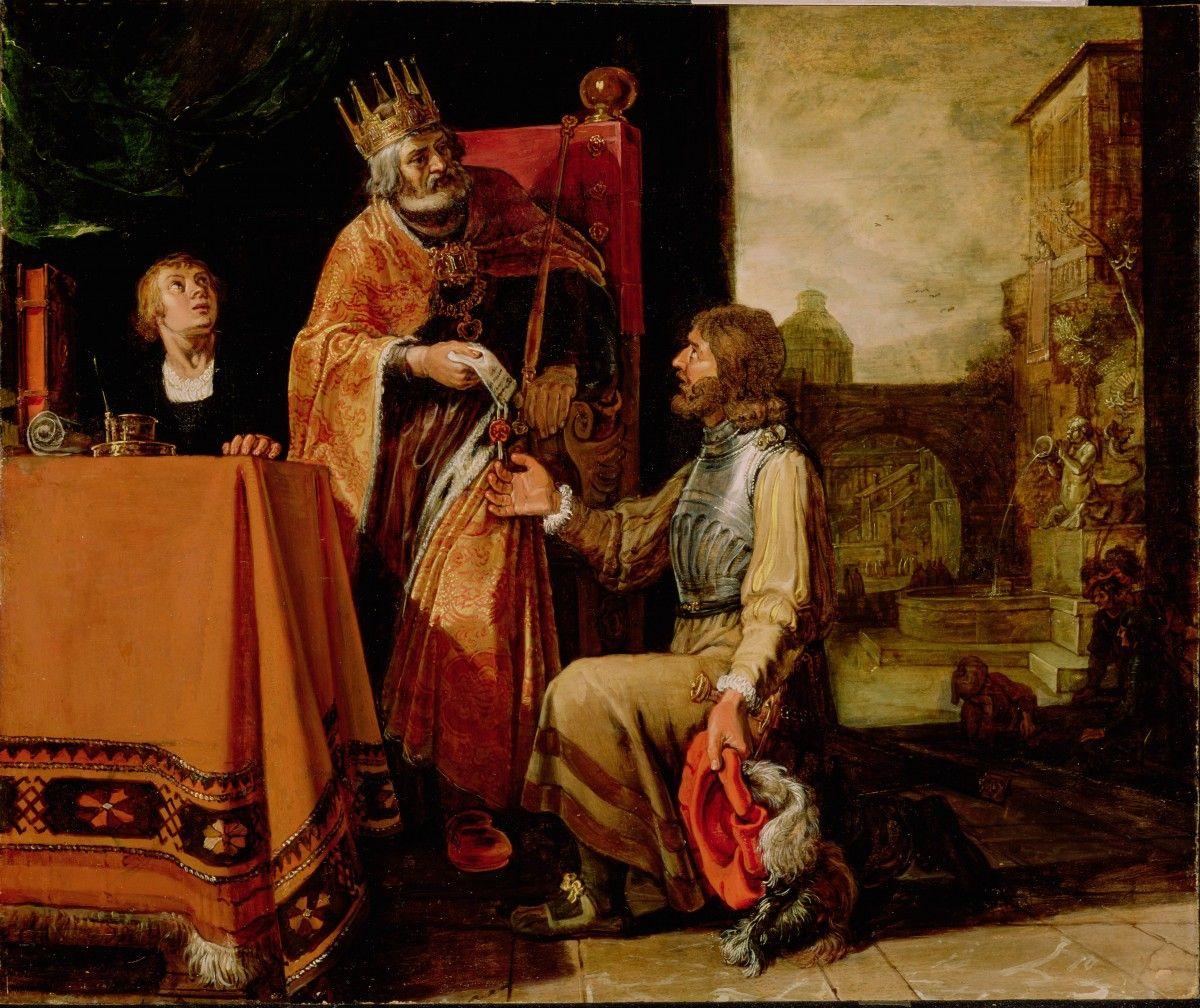 King David Handing The Letter To Uriah / El Rey David