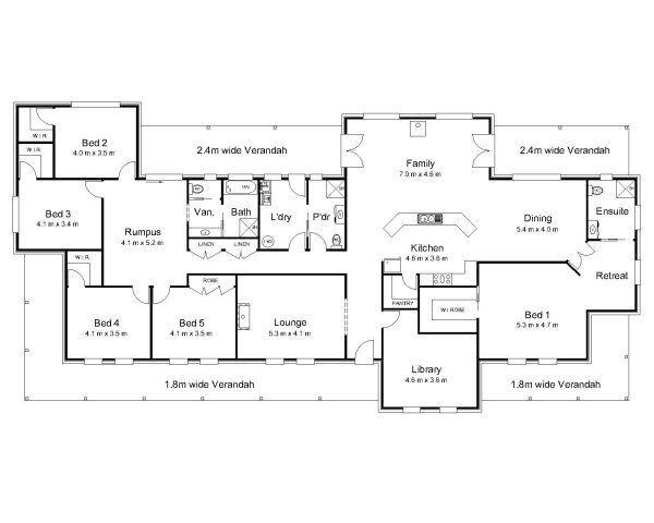 4 Bedroom 3 Bathroom House Plans Australia - Homes Zone