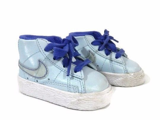 a77dbb892beb5c Nike Baby Girls Shoes Size 2C Hightop Sneaker Infant Blue