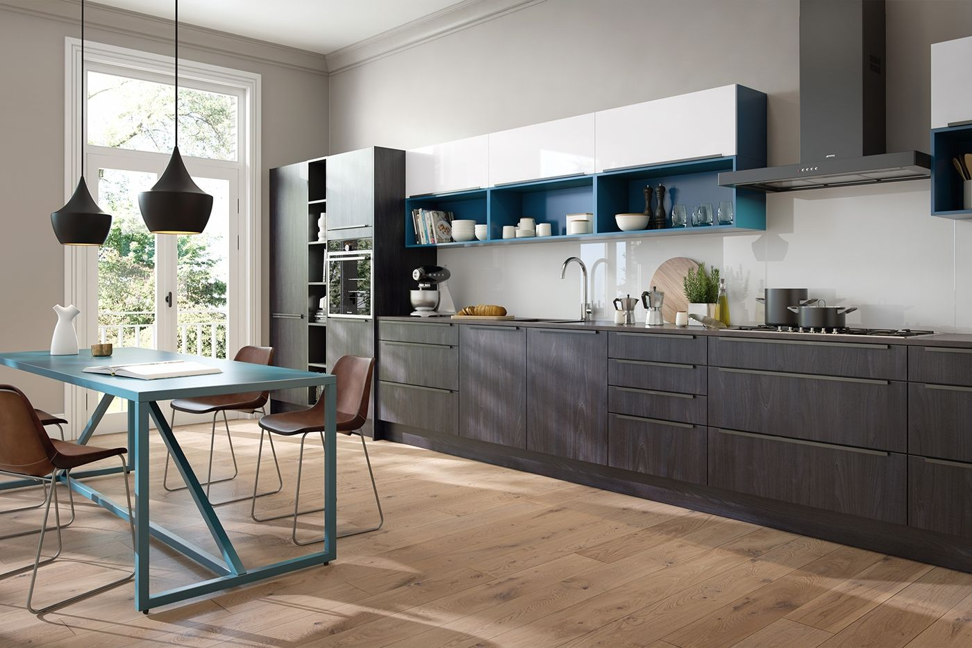 Best Modern Linear Kitchen On Behance Kitchen Kitchen 400 x 300
