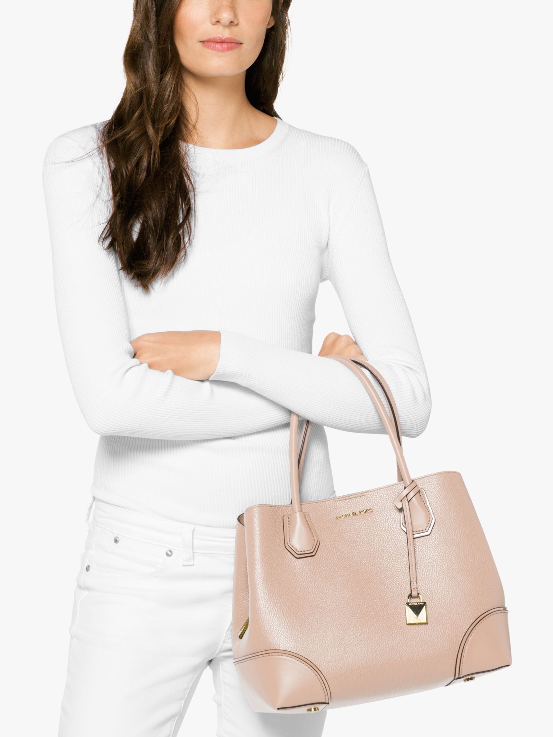 MICHAEL by Michael Kors Mercer Soft Pink Gallery Medium Tote Bag