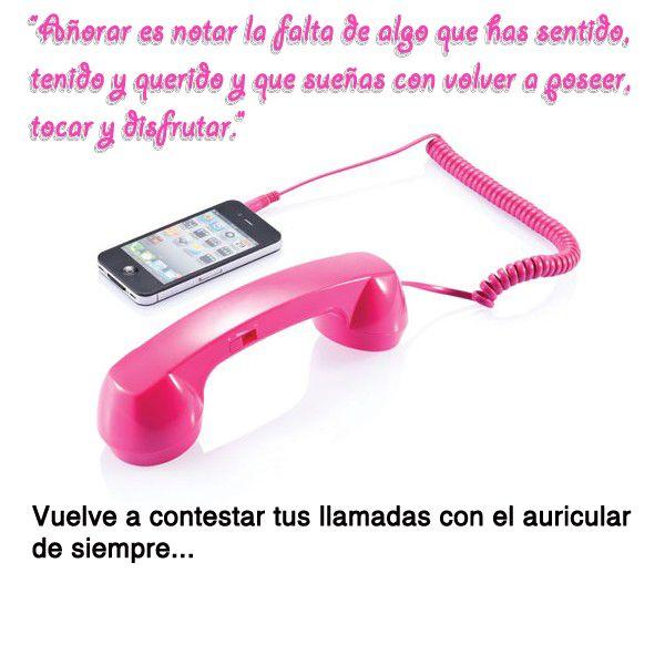 Auricular retro para tu telefono movil.